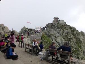 山頂の風景