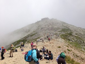 にぎわう山道